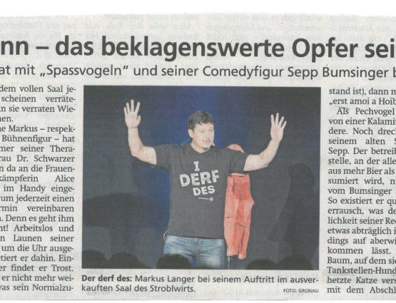 Markus Langer mit Special Guest Sepp Bumsinger